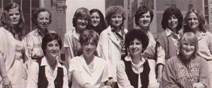 Kay Koplovitz (back row, third from left) with fellow first members of the Women in Cable TV board