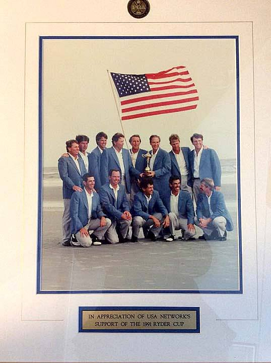 U.S. team for the 1991 Ryder Cup on Kiawah Island, South Carolina. USA Networks was the first to broadcast the program live on TV.