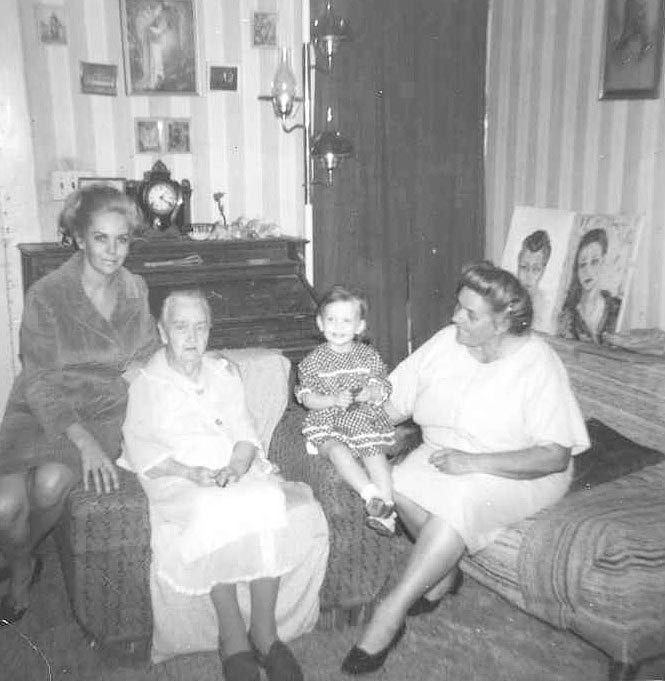Mom Colleen, Great Grandma Diane, Grandmother Reverend Eleanor Scott in Washington County, GA, 1967