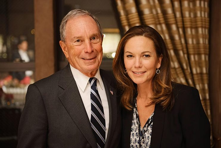 Diane Lane and Michael Bloomberg in New York City, 2017