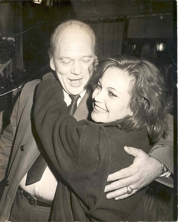 Diane Lane with her father, Burt Lane, 1984