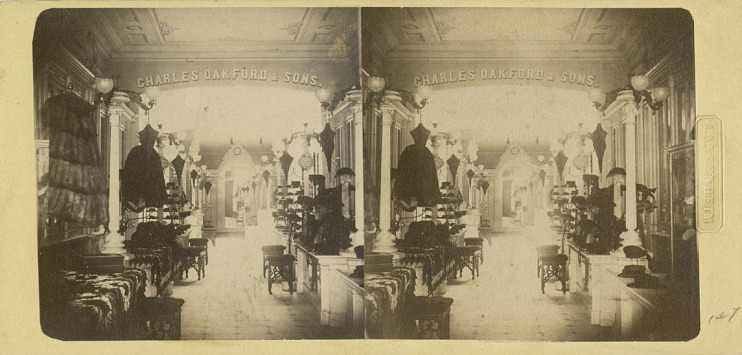 Charles Oakford & Son's hat store, photograph by W. & F. Langenheim, 1854