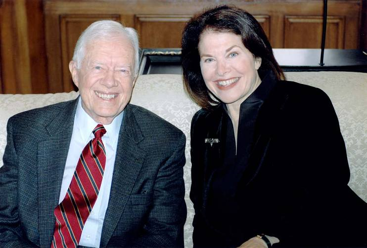 Sherry Lansing with President Jimmy Carter