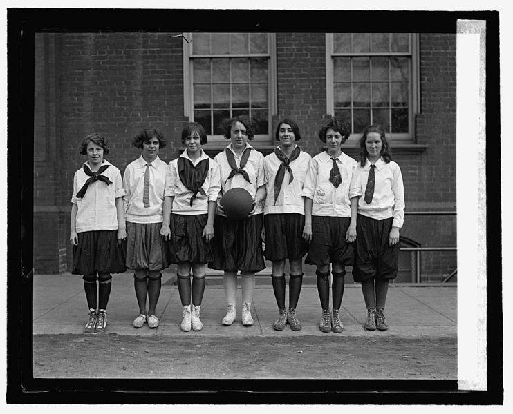Hine Junior High School Girls Basketball Team, 1925