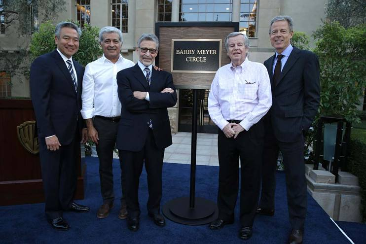 Kevin Tsujihara, Terry Semel, Barry Meyer, Bob Daly, and Jeff Bewkes