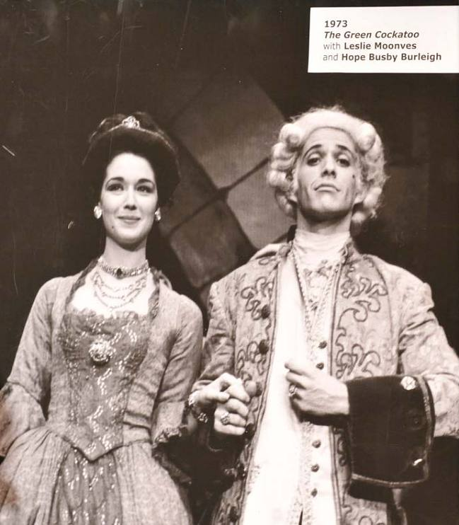 Hope Busby Burleigh and Leslie Moonves performing in The Green Cockatoo in 1963 at the Neighborhood Playhouse School of the Theatre.