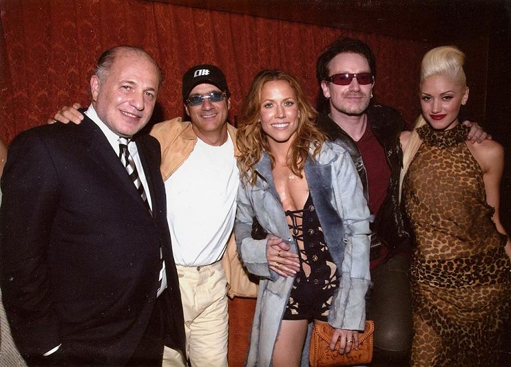 Doug Morris, Jimmy Lovine, Sheryl Crow, Bono, Gwen Stefani - Universal Music Group Grammy Party 2006 in Los Angeles