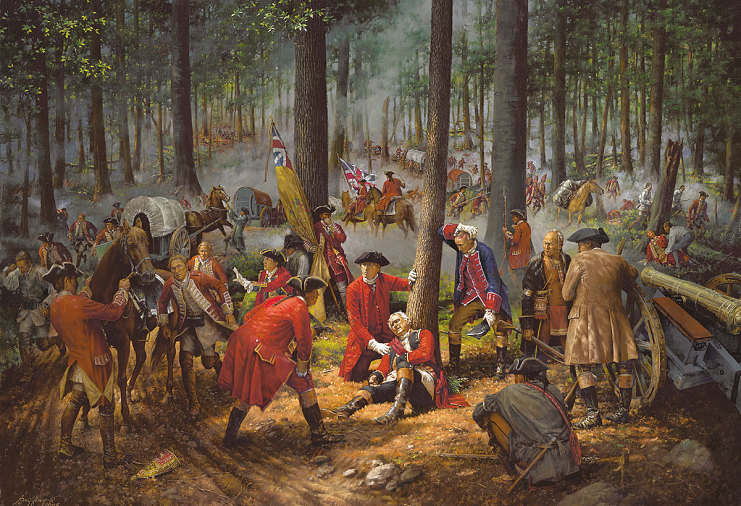 """The Wounding of General Braddock"""