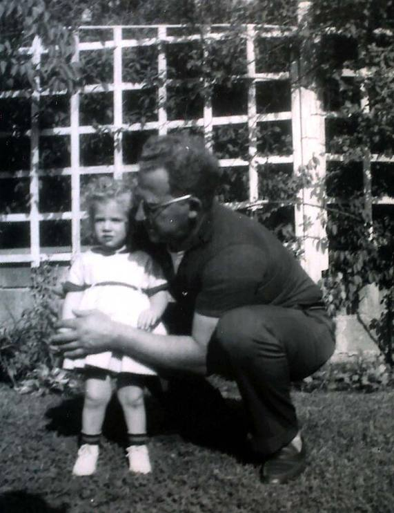 Abbe Raven at age 2 with her father, Ben Raven, in Laurelton, Queens, New York