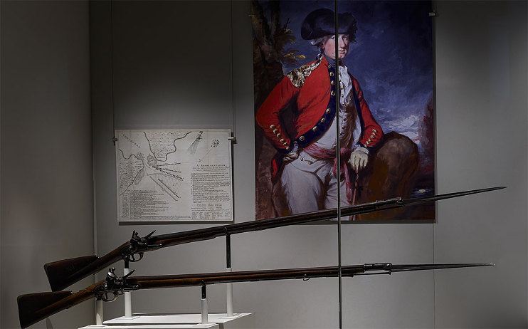 British Brown Bess Muskets with Socket Bayonets, around 1740