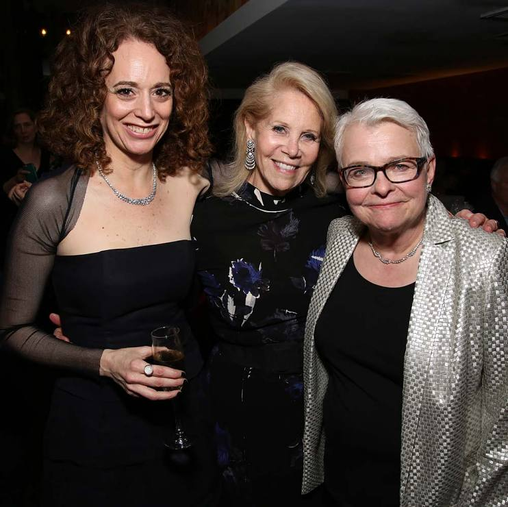 Daryl Roth with Rebecca Taichman and Paula Vogel of Indecent