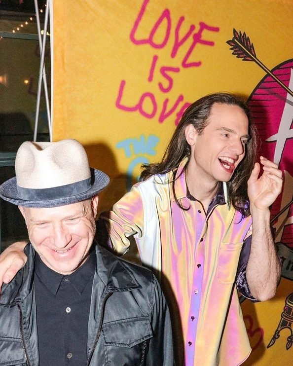 Jordan Roth and husband Richie Jackson celebrate the 2018 Opening Night of Head Over Heels on Broadway.