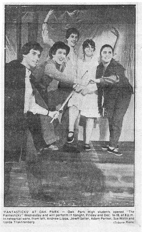 1981 Oak Park High School production of The Fantasticks