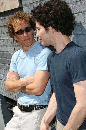 Jeffrey Seller with Tommy Kail during an In The Heights commercial shoot, August 2007