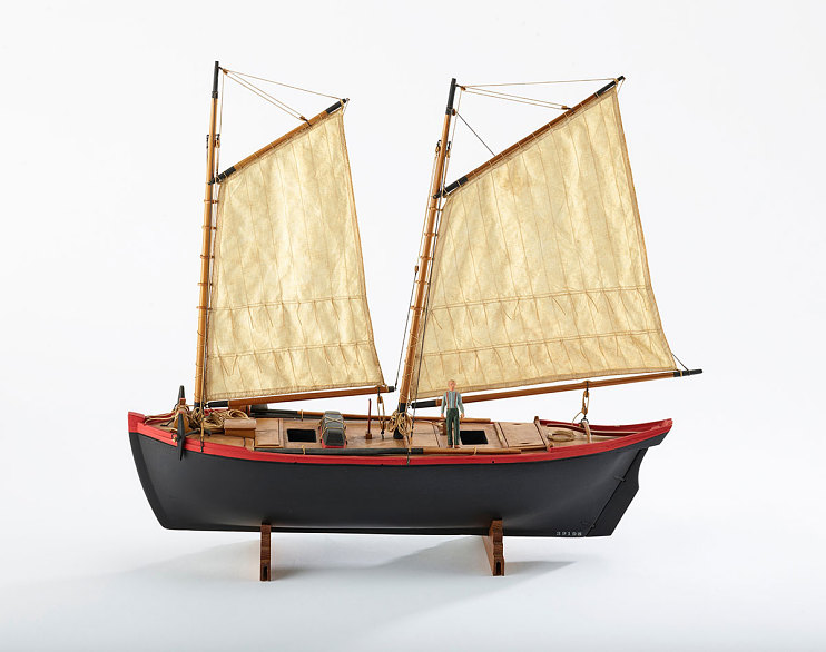 Model of a 1790s boat