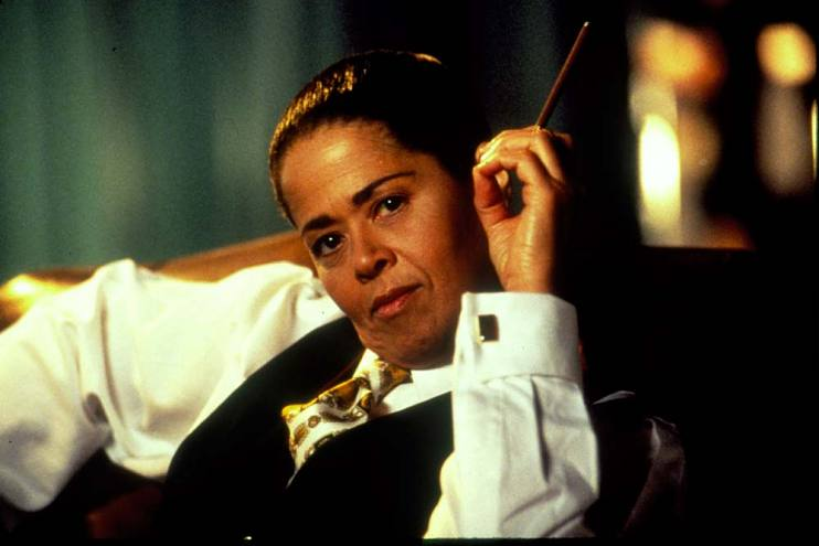 Anna Deavere Smith as Cornel West in the PBS film of her play Fires in the Mirror