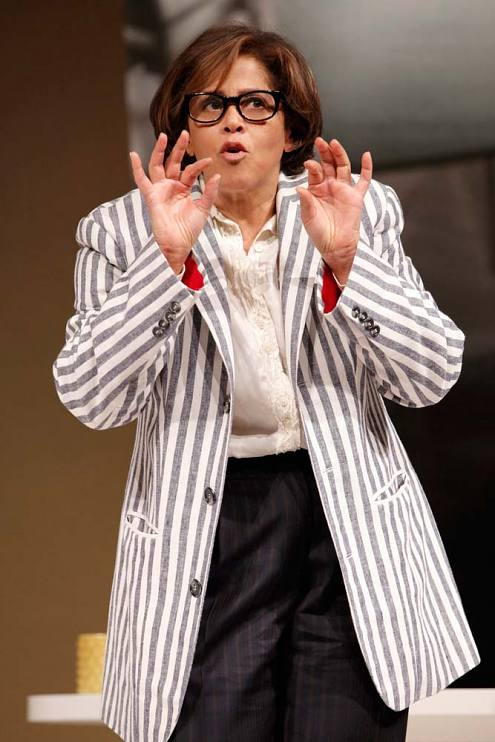 Anna Deavere Smith as Elizabeth Streb in the PBS film of her play Let Me Down Easy