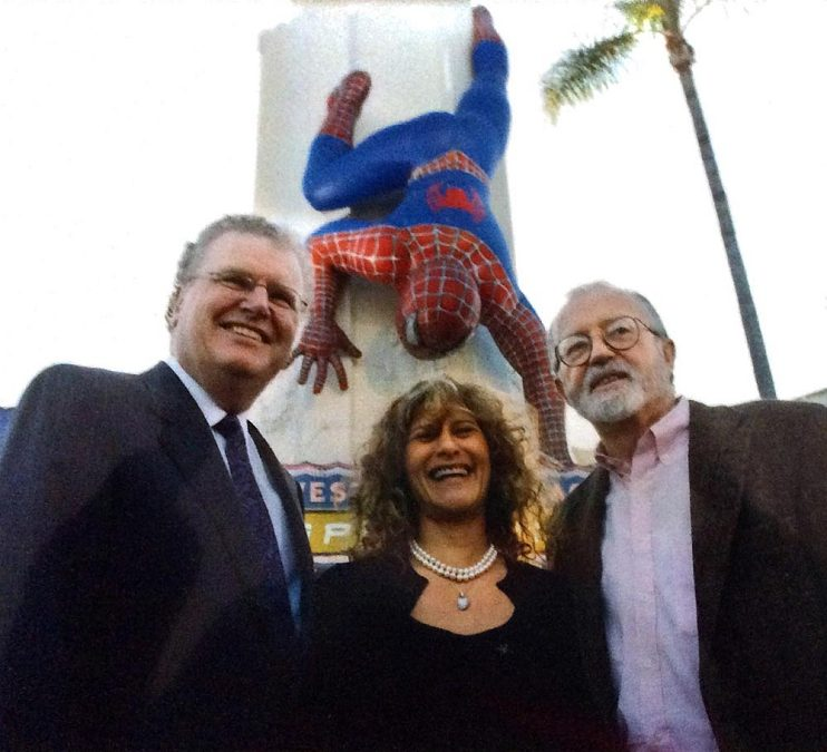 Spider-Man premiere with Amy Pascal and John Calley, 2002
