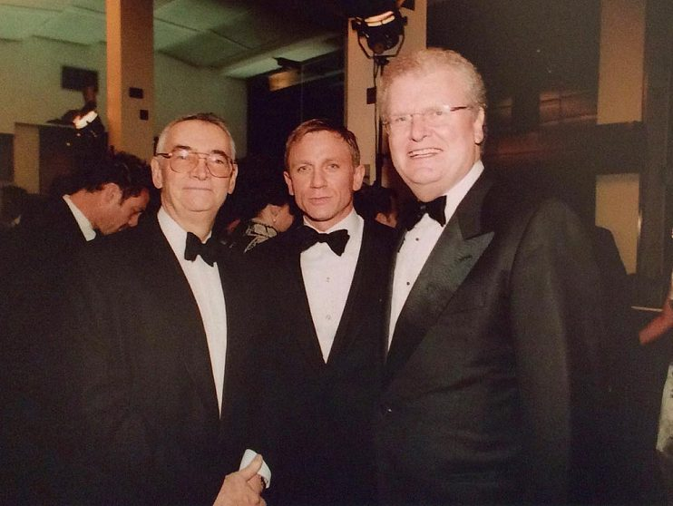 With Michael Wilson (left) and Daniel Craig at the premiere of Casino Royale, 2006
