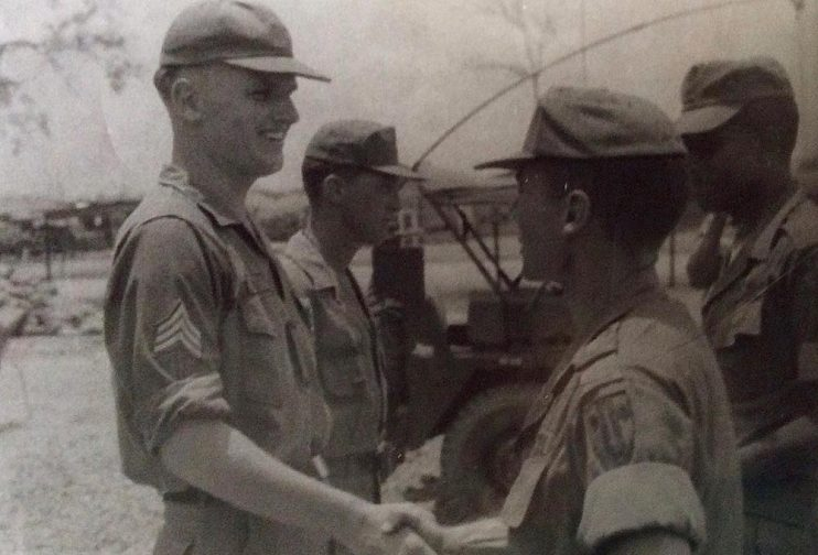 Awarded Army Commendation Medal while in Vietnam, 1967