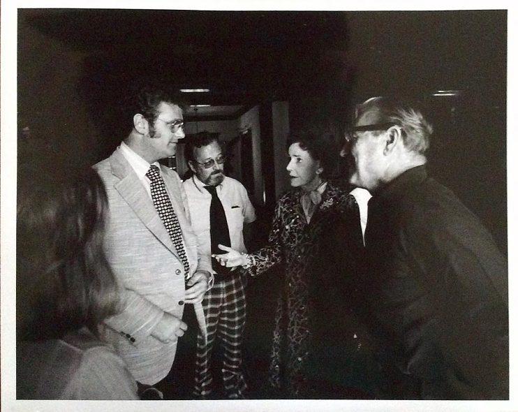 Howard Stringer with Abby Rockefeller Mauzé (center) and Nelson Rockefeller (right), 1974