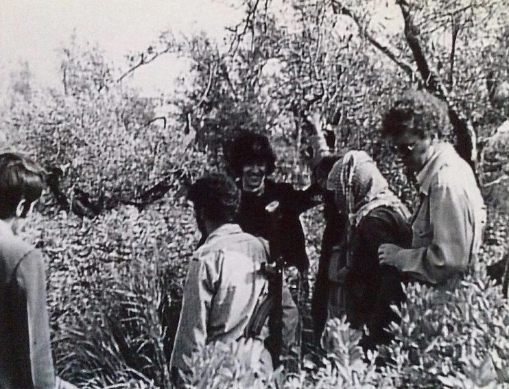 With Popular Front for the Liberation of Palestine (PFLP) members in southern Lebanon, 1974