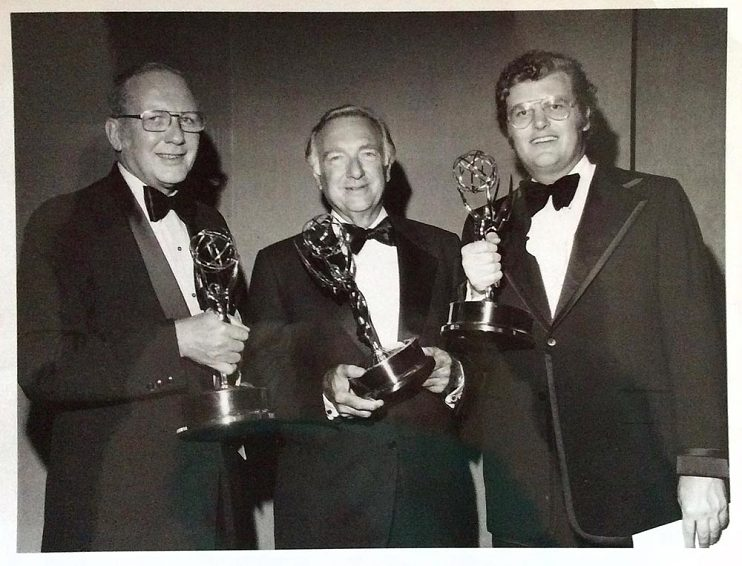 With Bud Benjamin (left) and Walter Cronkite