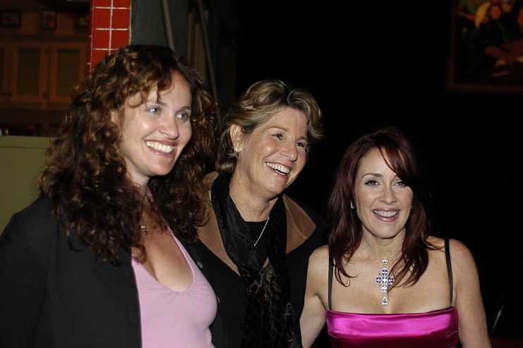Left to right, Amy Brenneman, Nancy Tellem, and Patricia Heaton at the Everybody Loves Raymond finale party, April 28, 2005