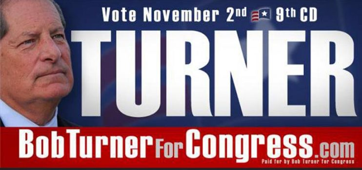 Bob Turner for Congress sign, 2011
