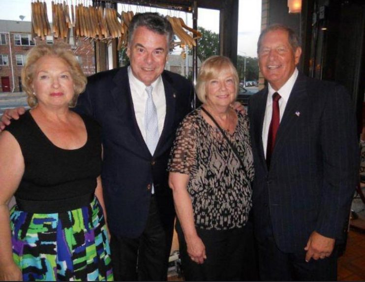Left to right, Rosemary Weidl, Pete King (R-NY), Peggy Turner, and Bob Turner at a campaign event, 2011