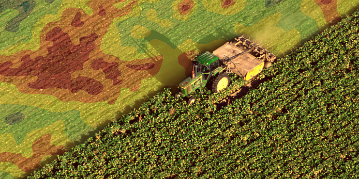 Precision farming allows a farmer to gather and see information about in real time.