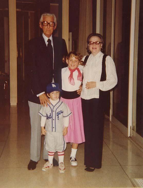 Casey, sister Carol, Lew, and Edith Wasserman