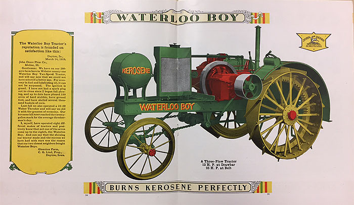 Waterloo Boy tractor, 1918