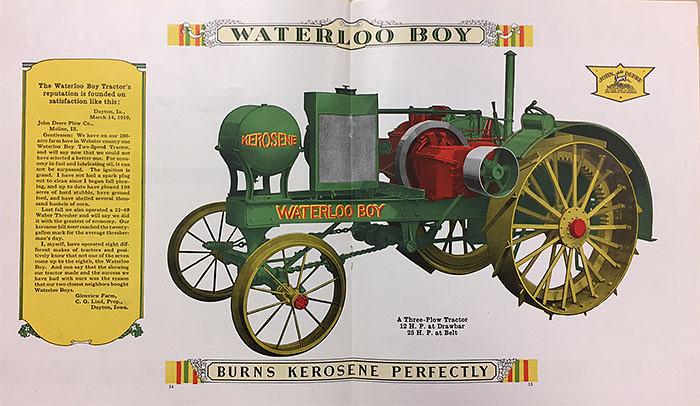 Waterloo Boy tractor, 1918