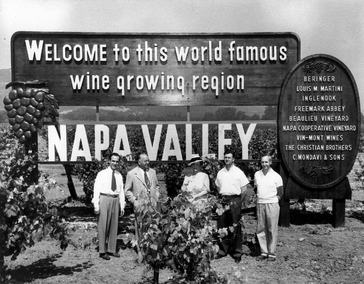 Welcoming tourists to Napa