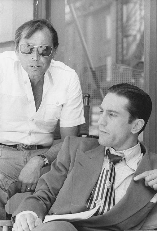 Irwin Winkler and Robert DeNiro on the set of New York, New York (1977)