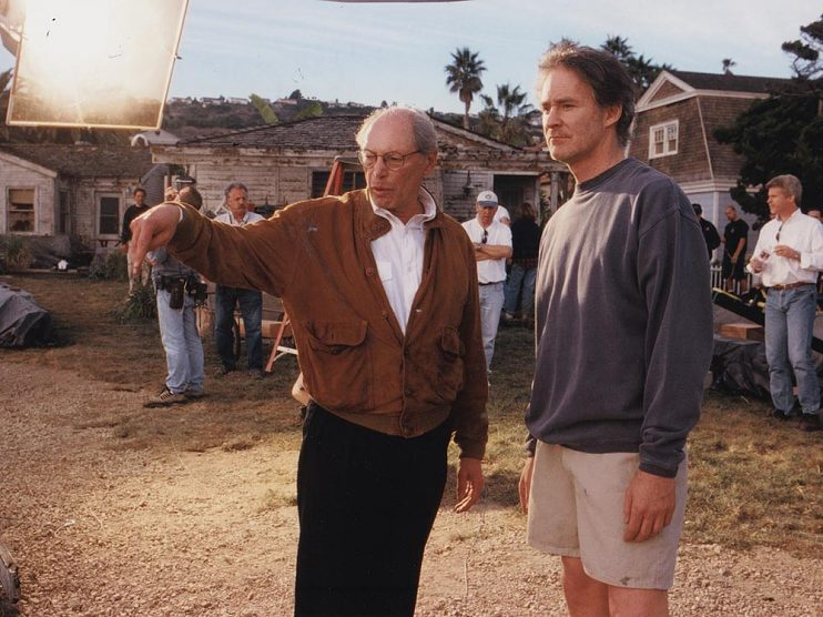 Irwin Winkler and Kevin Kline on the set of Life As a House (2001)