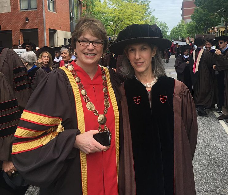 With Brown University President Christina Paxson in 2017
