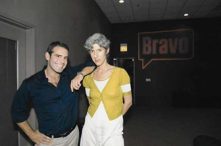 With Andy Cohen, early Bravo days in 2004