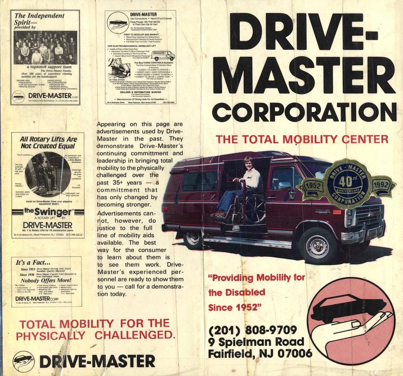 Drive Master Ads celebrating the 40th anniversary of the Company
