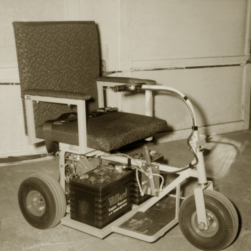 One of Ralph Braun's early three-wheeler designs.