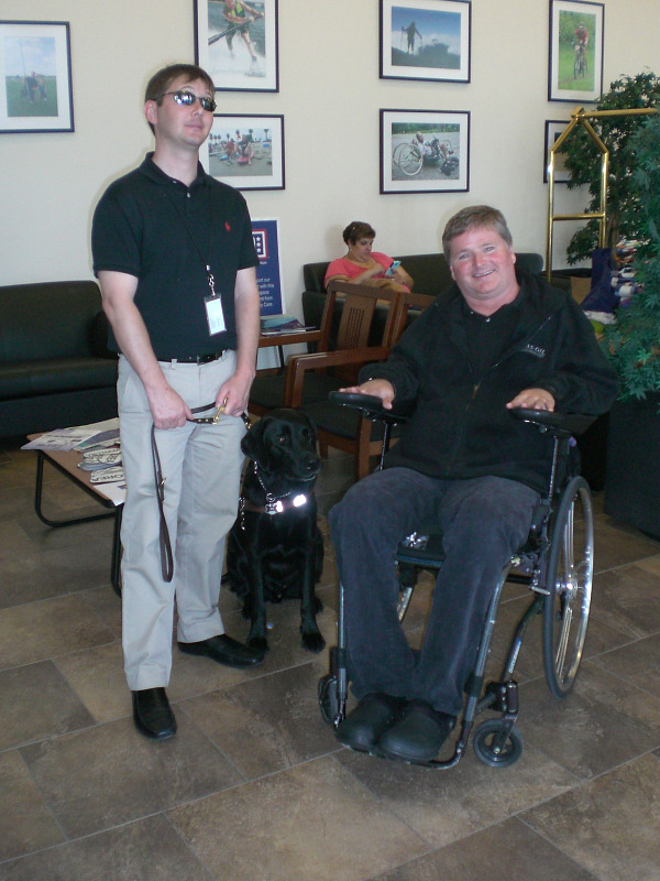 Author Mark Mullen with Sam Schmidt
