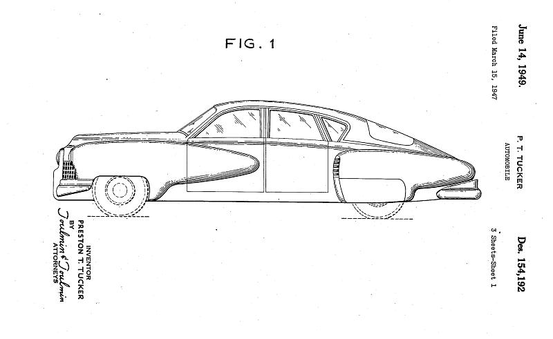 Tucker design patent application