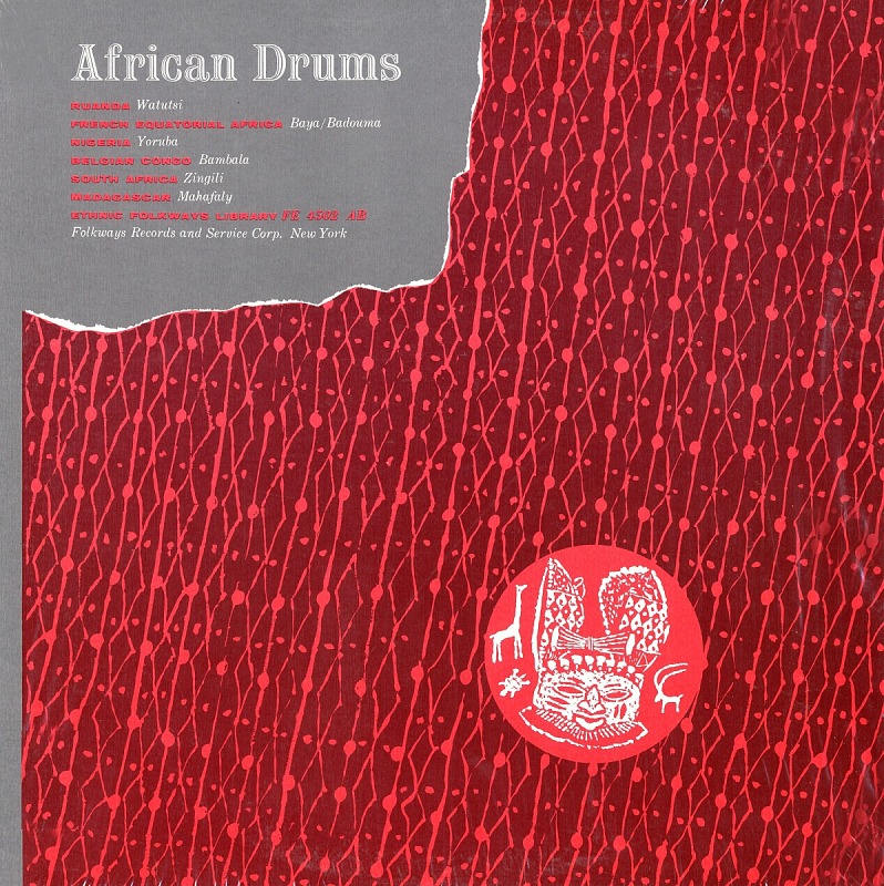 image for African and Afro-American drums sound recording / edited by Harold Courlander