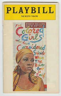 Playbill of For Colored Girls Who Have Considered Suicide, 1977 ...