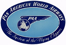 Pan American World Airlines Label