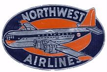 Northwest Airlines Label