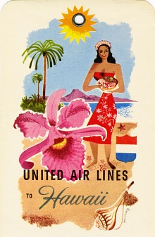 United Airlines Hawaii Baggage Label