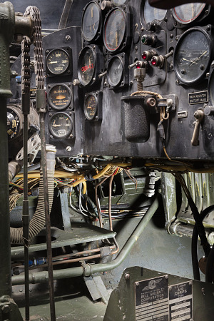 Partial view of flight instruments in the cockpit of the Bell X-1-thumbnail 30