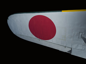 Red circle design on white underwing of Zero Fighter aircraft-thumbnail 7